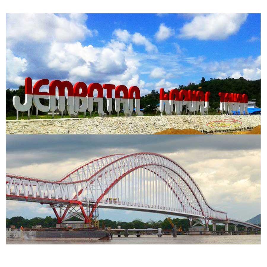 Mencengangkan, lihat lebih dekat Keindahan Arsitektur Jembatan Kapuas Tayan